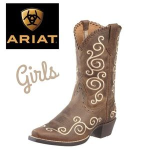 LIKE NEW GIRLS ARIAT COWGIRL boots